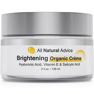 All Natural Advice Brightening Organic Creme for Skin Brightener