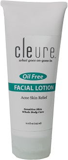 Cleure Facial Lotion - Oil Free - Acne Skin Relief for Skin Moisturizer