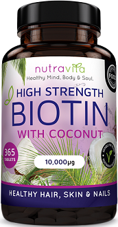 Nutravita Biotin with Coconut Oil for Hair Growth