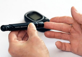 Photo of Checking Blood Sugar Level